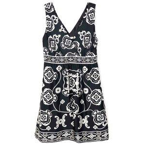 White House Black Market   Silk Dress Mosaic Dress